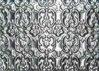 Embossed Trunk Tin with Floral Pattern T-134-Antique Hardware & More LLC
