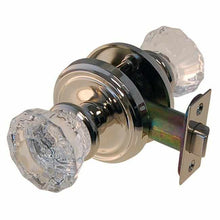 Load image into Gallery viewer, Fluted Glass Knob Passage Door Set in Polished Nickel DS-124-Antique Hardware & More LLC
