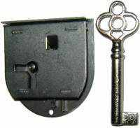 Load image into Gallery viewer, Half Mortise Drawer or Right Hand Door Lock - LCK-1119-Antique Hardware & More LLC