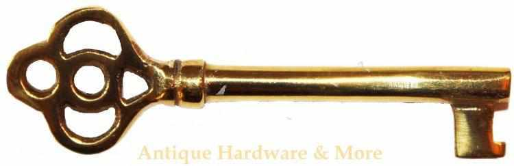 K-101 Cast Brass Key in a Polished Finish-Antique Hardware & More LLC