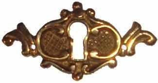 KH-106 Cast Brass Keyhole Cover-Antique Hardware & More LLC