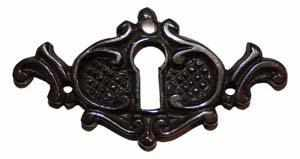 KH-106D Cast Brass Keyhole Cover with Antique Finish-Antique Hardware & More LLC