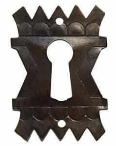 KH-110D Stamped Brass Keyhole Cover in Antique Finish-Antique Hardware & More LLC
