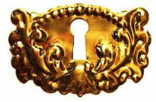 Load image into Gallery viewer, KH-111 Stamped Brass Keyhole Cover-Antique Hardware & More LLC