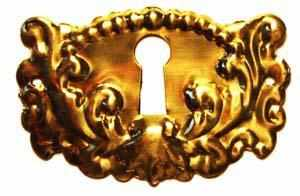 KH-111 Stamped Brass Keyhole Cover-Antique Hardware & More LLC