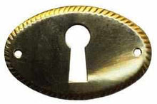 Load image into Gallery viewer, KH-112 Stamped Brass Keyhole Cover-Antique Hardware & More LLC