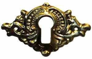 KH-117 Stamped Brass Keyhole Cover in Polished Brass-Antique Hardware & More LLC