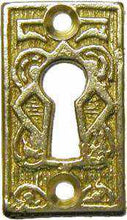 Load image into Gallery viewer, KH-118 Cast Brass Keyhole Cover in Polished Brass-Antique Hardware & More LLC