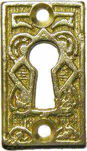 KH-118 Cast Brass Keyhole Cover in Polished Brass-Antique Hardware & More LLC