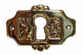 KH-119 Cast Brass Eastlake Keyhole Cover in Polished Brass-Antique Hardware & More LLC