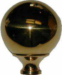 Large Polished Brass Bed Ball - BK-112-Antique Hardware & More LLC
