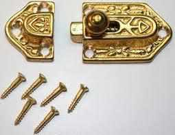 Ornate Cast Brass Cupboard Latch LCK-132-Antique Hardware & More LLC
