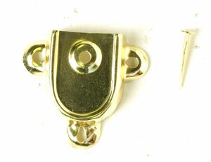 Pair of Brass Plated Trunk Handle End Caps T-102-Antique Hardware & More LLC