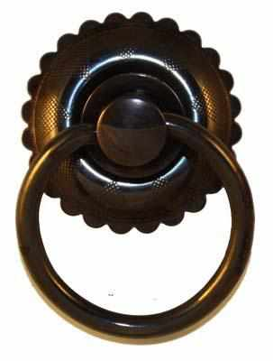 PP-118D Brass Ring Pull with Antique Finish-Antique Hardware & More LLC