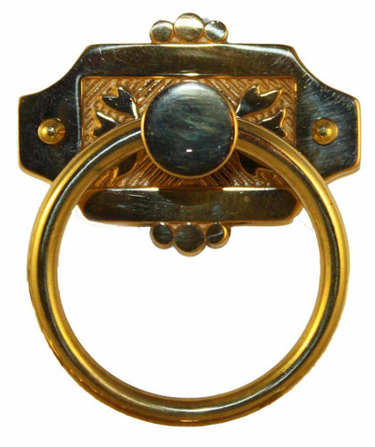 PP-124 Cast Brass Eastlake Ring Pull-Antique Hardware & More LLC