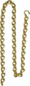 Solid Brass Lamp Chain by the Foot LMP-107-Antique Hardware & More LLC