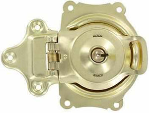 Spring Loaded Trunk Lock in Brass T-169-Antique Hardware & More LLC