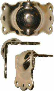 T-205 Large Stamped Brass Trunk Clamp-Antique Hardware & More LLC