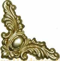 Load image into Gallery viewer, T-207 Small Stamped Brass Victorian Trunk Corner-Antique Hardware & More LLC