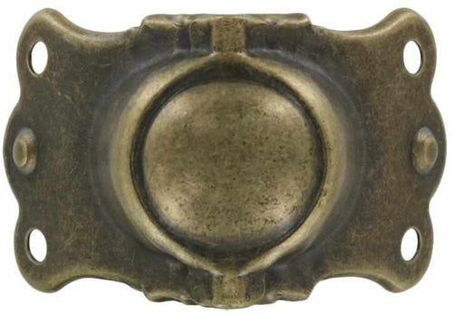 T-232 Trunk Clamp in Antique Brass-Antique Hardware & More LLC