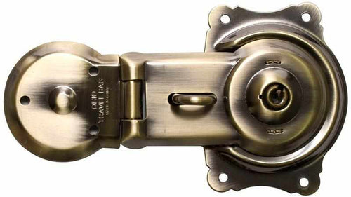 T-235 Antiqued Brass Plated Trunk Lock-Antique Hardware & More LLC