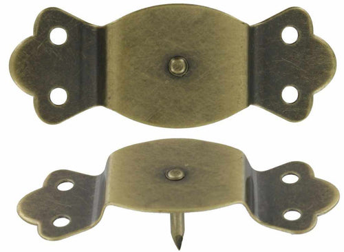 T-251 Pair of Trunk Handle Loops with Center Pin Antique Brass-Antique Hardware & More LLC