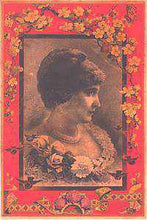 Load image into Gallery viewer, T-268 Woman with Carnations Interior Trunk Label-Antique Hardware & More LLC