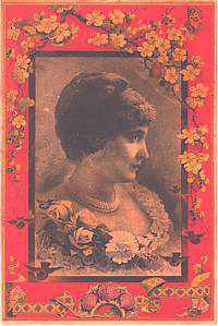 T-268 Woman with Carnations Interior Trunk Label-Antique Hardware & More LLC
