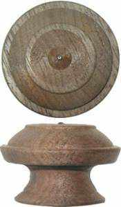 Turned Walnut Knob BK-157-Antique Hardware & More LLC