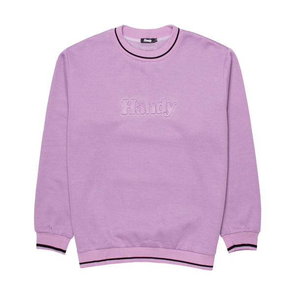 EMBOSSED HANDY SWEAT - LILAC