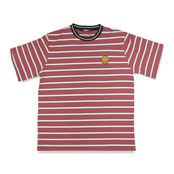 HEAVYWEIGHT VINTAGE RED STRIPE - T-SHIRT