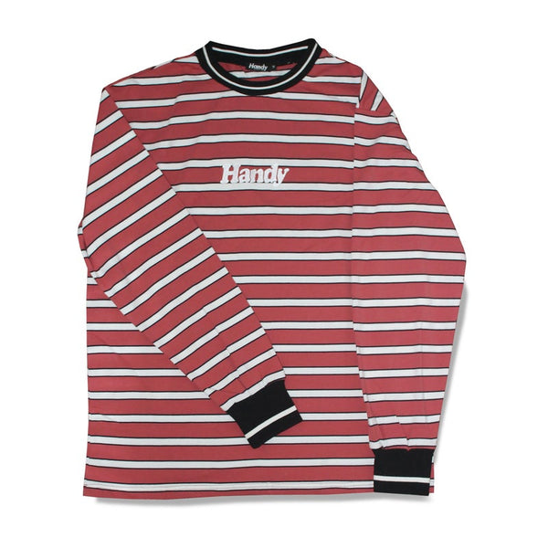 HEAVYWEIGHT RED LONGSLEEVE STRIPE - ON SALE