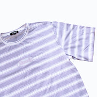 MIDWEIGHT LAVENDER STRIPE T-SHIRT - ON SALE