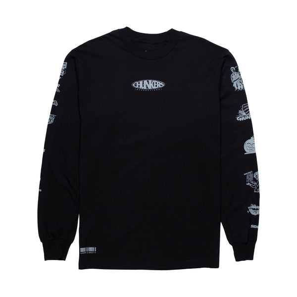 HANDY x SALLY C CHUNKERS - BLACK LONGSLEEVE T-SHIRT