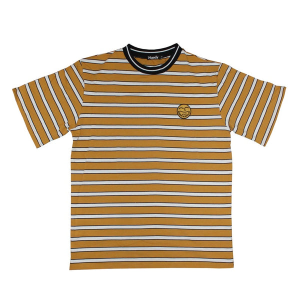 HEAVYWEIGHT MUSTARD STRIPE T-SHIRT