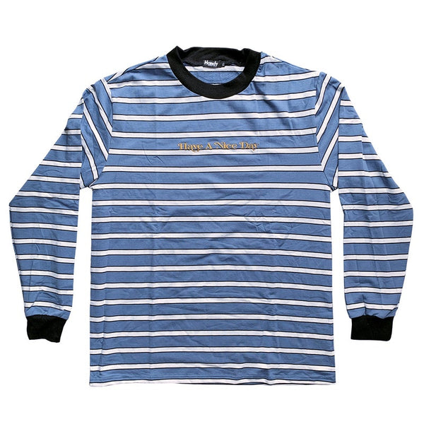 HEAVYWEIGHT CHALK BLUE STRIPE LONGSLEEVE