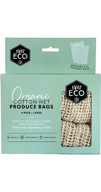Ever Eco Organic Cotton Net Produce Bags 4 pack - Ecotree Baby Boutique