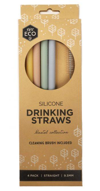 Ever Eco Silicone Straws - Straight 4 Pack - Ecotree Baby Boutique