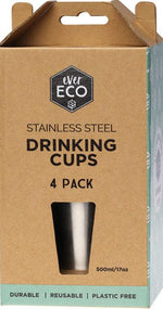 Ever Eco Stainless Steel Drinking Cup - 4 Pack - Ecotree Baby Boutique