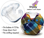 Rumparooz Lil Joey Newborn Nappy Twin Pack - Ecotree Baby Boutique