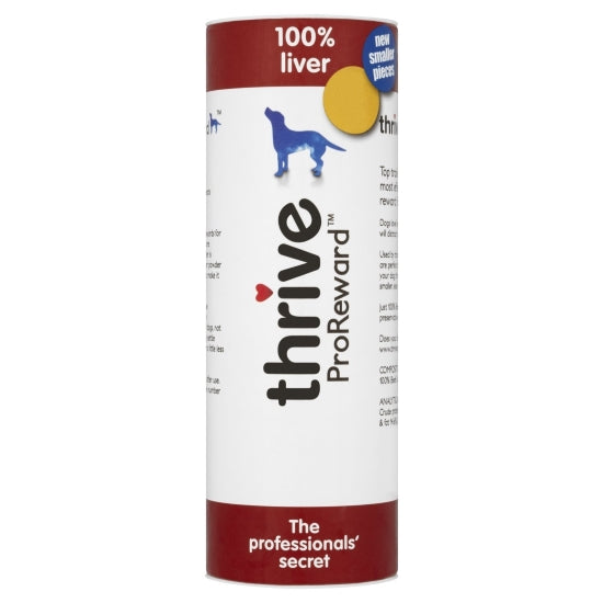 Thrive Pro Reward Beef Liver Treats for Dogs - 12 x 60g Tubes