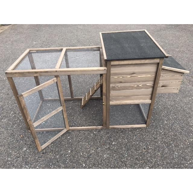 Wooden 6' Freestanding Rabbit, Guinea Pig, Ferret Hutch