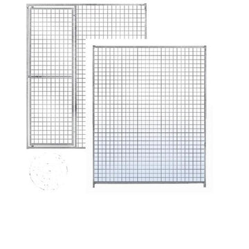 Galvanised Dog Run Panels  Mesh - Prestige Range