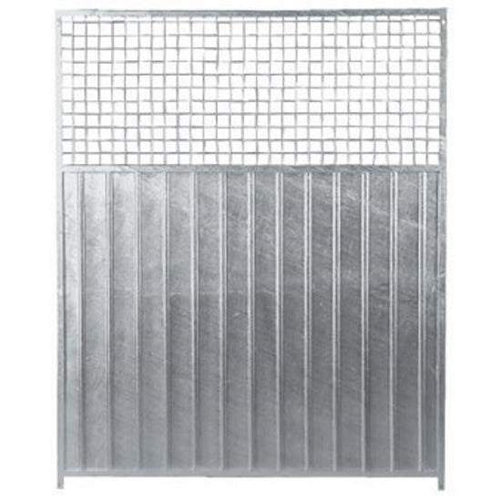 Galvanised Dog Run Dividing Panels 3/4 Mesh Mix - Prestige Range