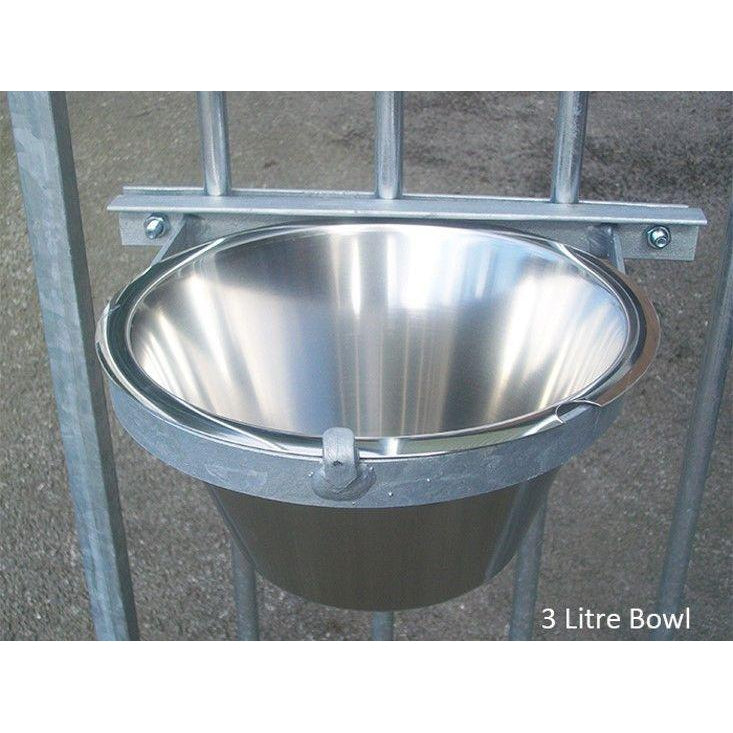 Stainless Steel Single Bolt-On Dog Bowl - Prestige Range