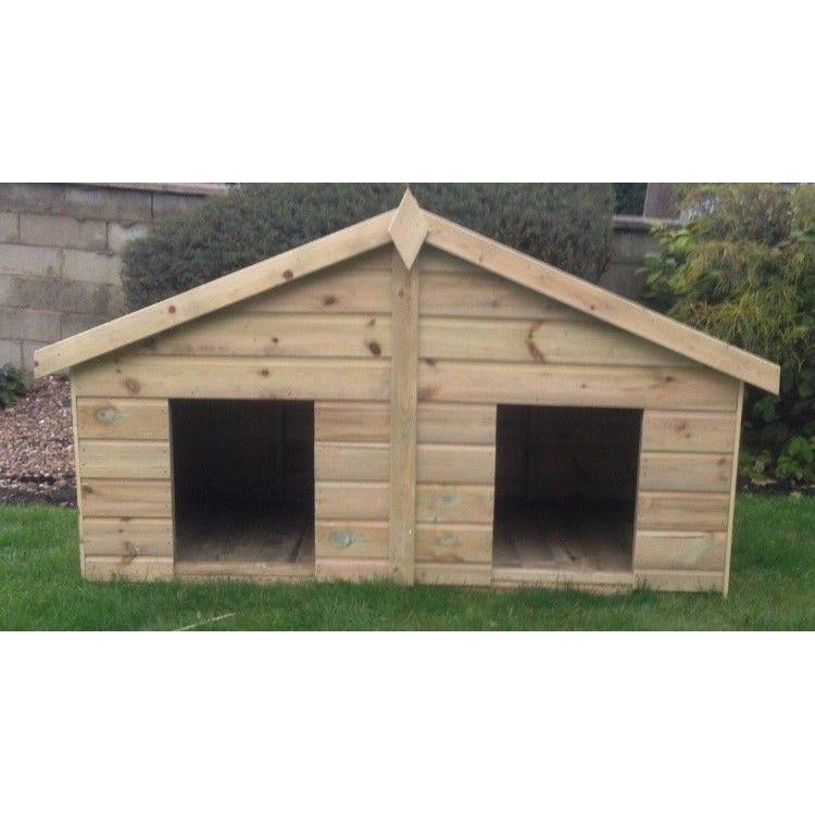Pilton Double Tanalised Wooden Dog Kennel