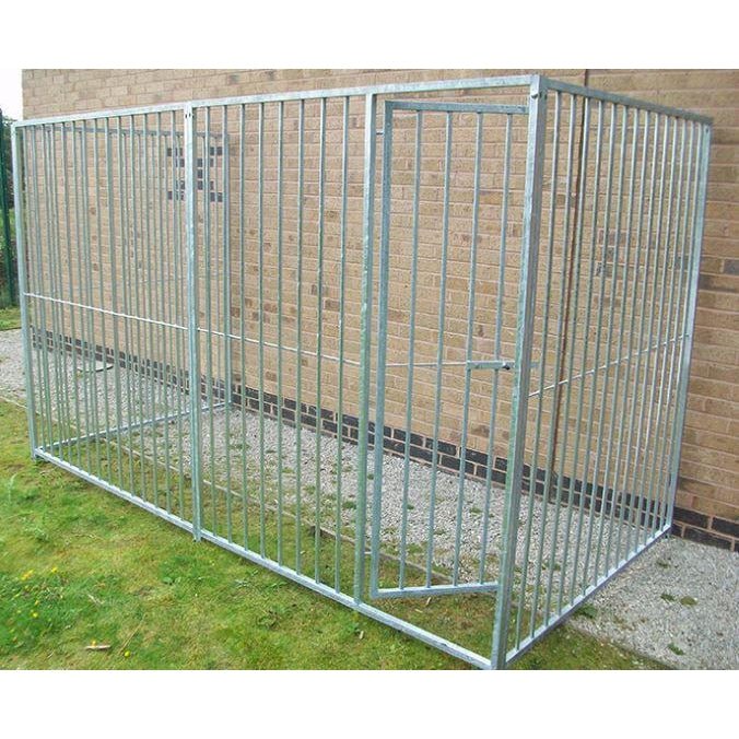 3 Sided Galvanised Dog Pens - No Roof (8cm Bars)- Prestige Range