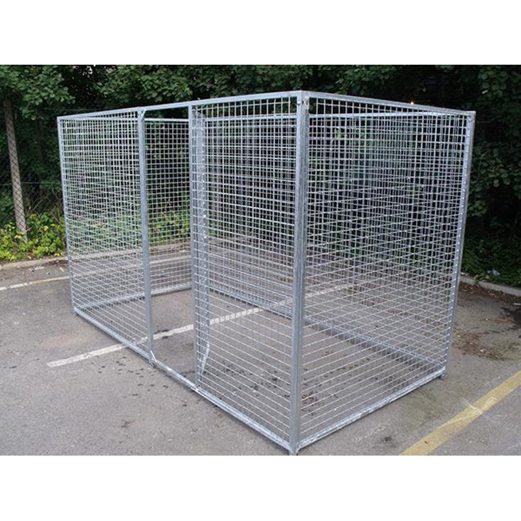 4 Sided Galvanised Mesh Dog Pens - No Roof - Prestige Range