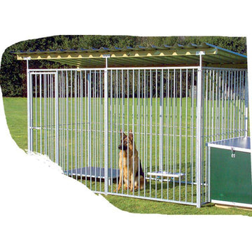 4 Sided Galanised Dog Pens With Roof (8cm Bars) Prestige Range