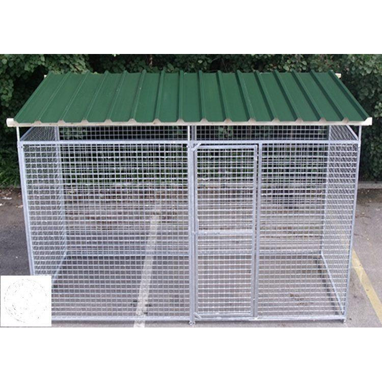4 Sided Galvanised Mesh Dog Pens With Roof - Prestige Range